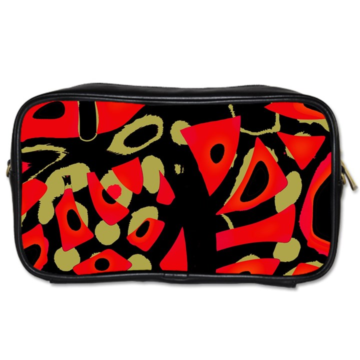 Red artistic design Toiletries Bags 2-Side