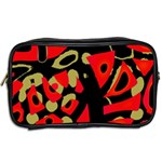 Red artistic design Toiletries Bags 2-Side Back