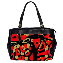 Red Artistic Design Office Handbags (2 Sides)