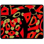 Red artistic design Fleece Blanket (Medium)  60 x50 Blanket Front