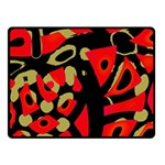 Red artistic design Fleece Blanket (Small) 50 x40 Blanket Front