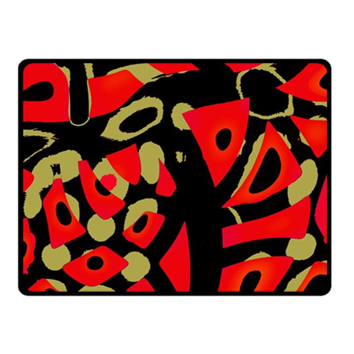 Red artistic design Fleece Blanket (Small)