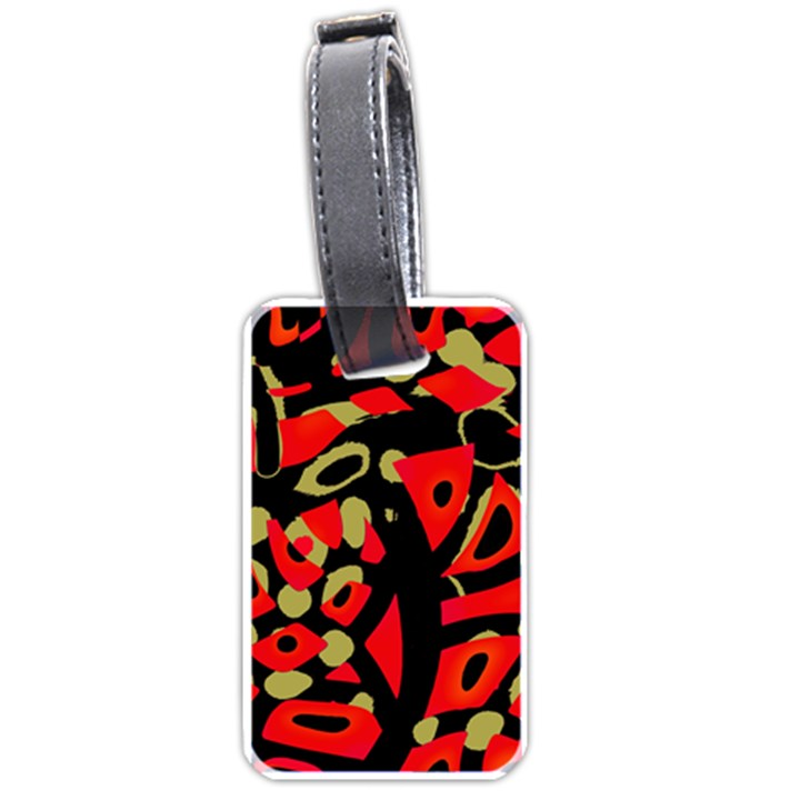 Red artistic design Luggage Tags (One Side)