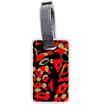 Red artistic design Luggage Tags (Two Sides) Back