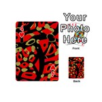 Red artistic design Playing Cards 54 (Mini)  Front - Heart4