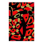 Red artistic design Shower Curtain 48  x 72  (Small)  42.18 x64.8 Curtain
