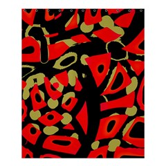 Red artistic design Shower Curtain 60  x 72  (Medium)