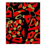 Red artistic design Shower Curtain 60  x 72  (Medium)  54.25 x65.71 Curtain