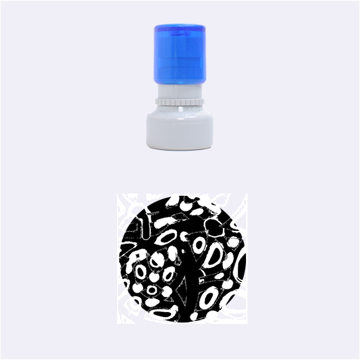 Red artistic design Rubber Round Stamps (Small)