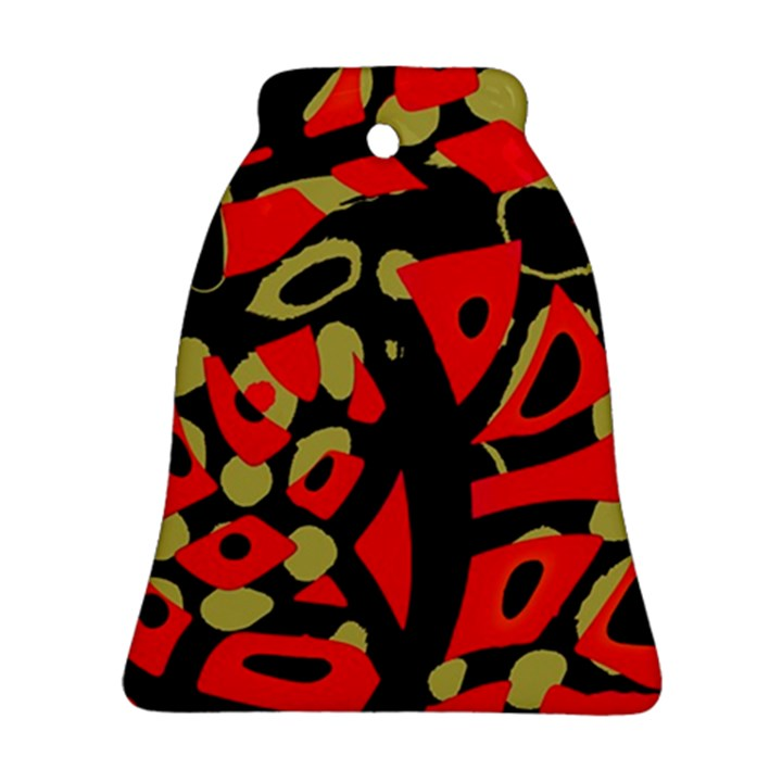 Red artistic design Bell Ornament (2 Sides)