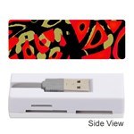Red artistic design Memory Card Reader (Stick)  Front