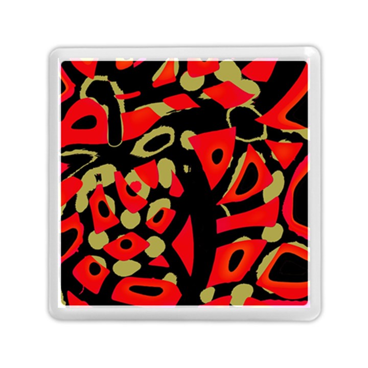 Red artistic design Memory Card Reader (Square)