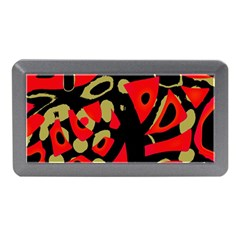 Red artistic design Memory Card Reader (Mini)