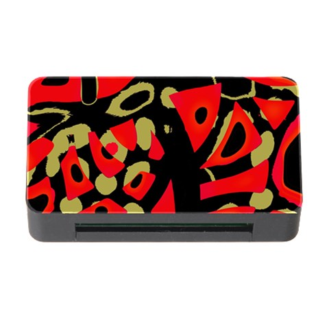 Red artistic design Memory Card Reader with CF