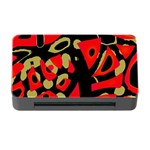 Red artistic design Memory Card Reader with CF Front