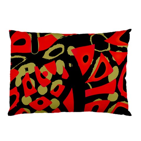Red artistic design Pillow Case (Two Sides)
