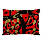 Red artistic design Pillow Case (Two Sides) Back