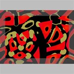 Red artistic design Deluxe Canvas 18  x 12   18  x 12  x 1.5  Stretched Canvas