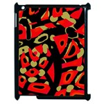 Red artistic design Apple iPad 2 Case (Black) Front