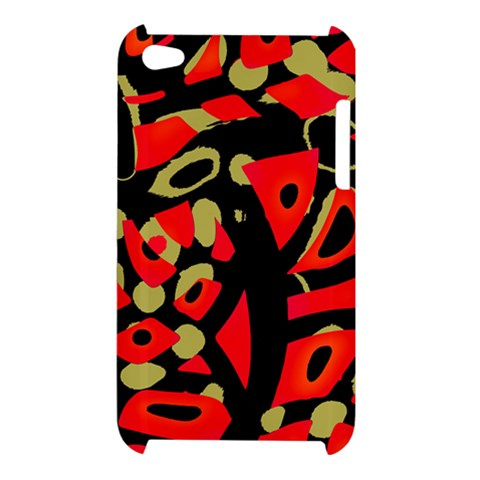 Red artistic design Apple iPod Touch 4