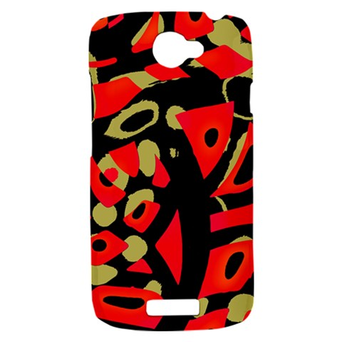 Red artistic design HTC One S Hardshell Case