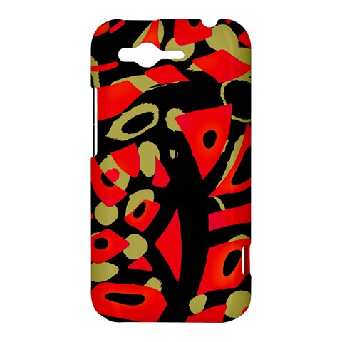 Red artistic design HTC Rhyme