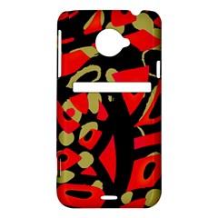 Red artistic design HTC Evo 4G LTE Hardshell Case