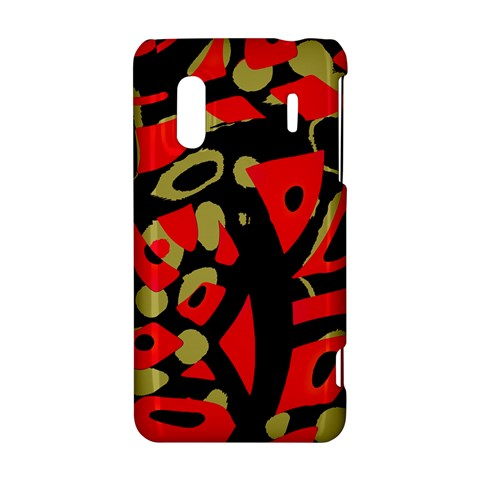 Red artistic design HTC Evo Design 4G/ Hero S Hardshell Case