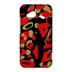 Red artistic design HTC Droid Incredible 4G LTE Hardshell Case