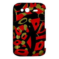 Red artistic design HTC Wildfire S A510e Hardshell Case