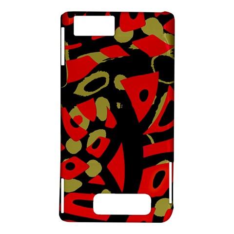 Red artistic design Motorola DROID X2
