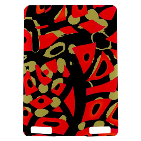 Red artistic design Kindle Touch 3G