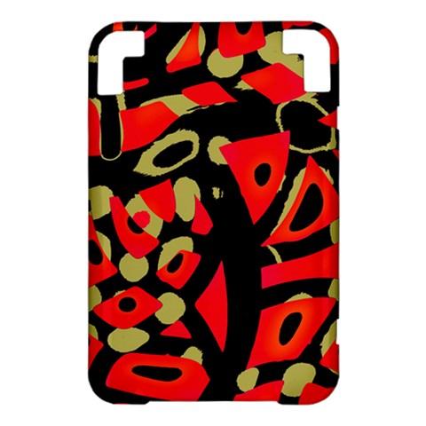Red artistic design Kindle 3 Keyboard 3G
