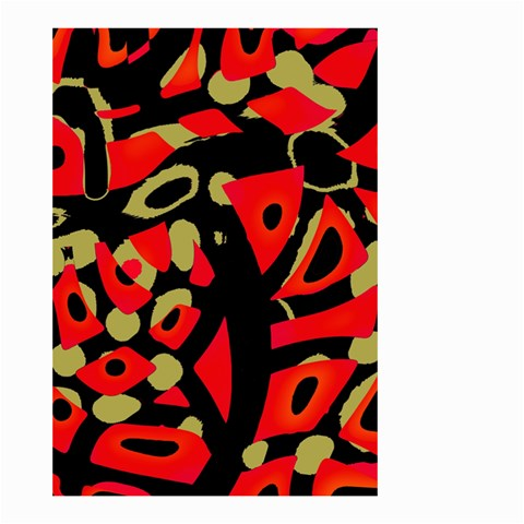 Red artistic design Small Garden Flag (Two Sides)