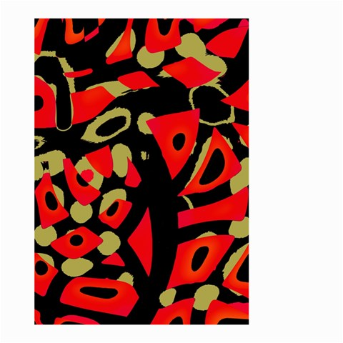 Red artistic design Large Garden Flag (Two Sides)