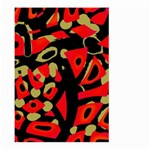 Red artistic design Large Garden Flag (Two Sides) Back