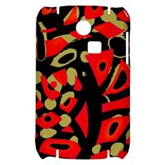 Red artistic design Samsung S3350 Hardshell Case