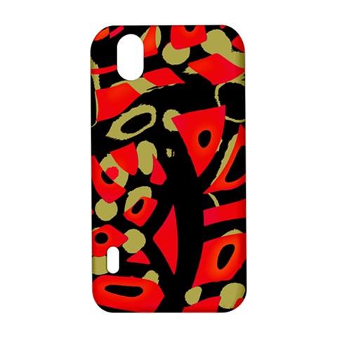 Red artistic design LG Optimus P970