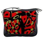 Red artistic design Messenger Bags Front