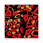 Red artistic design Acrylic Tangram Puzzle (6  x 6 ) Front
