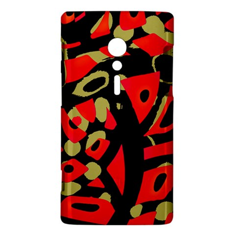 Red artistic design Sony Xperia ion