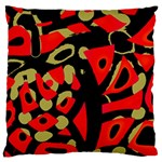 Red artistic design Large Cushion Case (One Side) Front