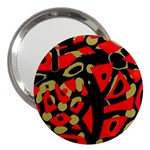Red artistic design 3  Handbag Mirrors Front