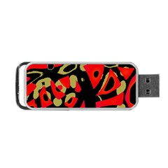Red Artistic Design Portable Usb Flash (two Sides)