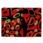 Red artistic design Cosmetic Bag (XXL)  Front