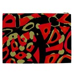 Red artistic design Cosmetic Bag (XXL)  Back