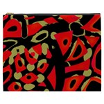 Red artistic design Cosmetic Bag (XXXL)  Front