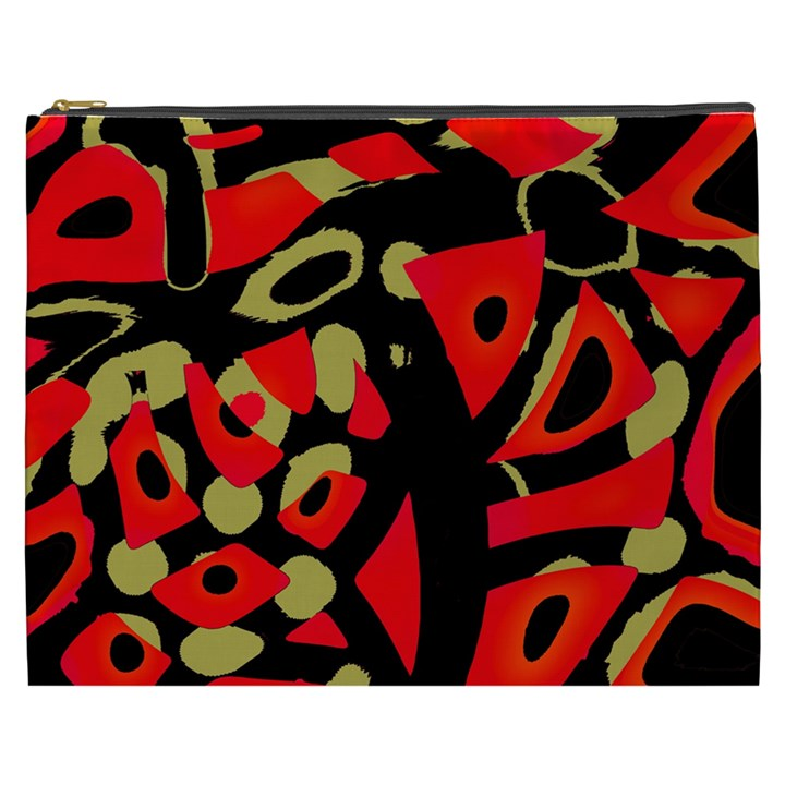 Red artistic design Cosmetic Bag (XXXL)