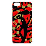 Red artistic design Apple iPhone 5 Seamless Case (White) Front