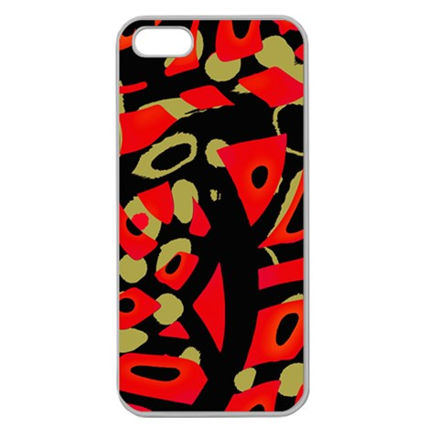 Red artistic design Apple Seamless iPhone 5 Case (Clear)